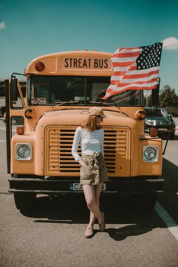 Usa_style USA FLAG Schoolbus Lifestylephotography Lovetotravel Lifestyle Photography Travel Photography First Eyeem Photo EyeEmNewHere BYOPaper!
