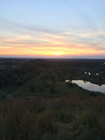 Golden hour at Aarhus, DK (iPhone 6) Sunset Landscape Beauty In Nature Sky Cloud - Sky Nature Golden Hour Aarhus Orange Color