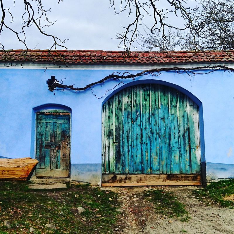 Doors. Taking Photos Check This Out Doors Blue Village Wood Romania Romania ! Door Hanging Out Color Explosion Colorful City Colorful Town Colorful