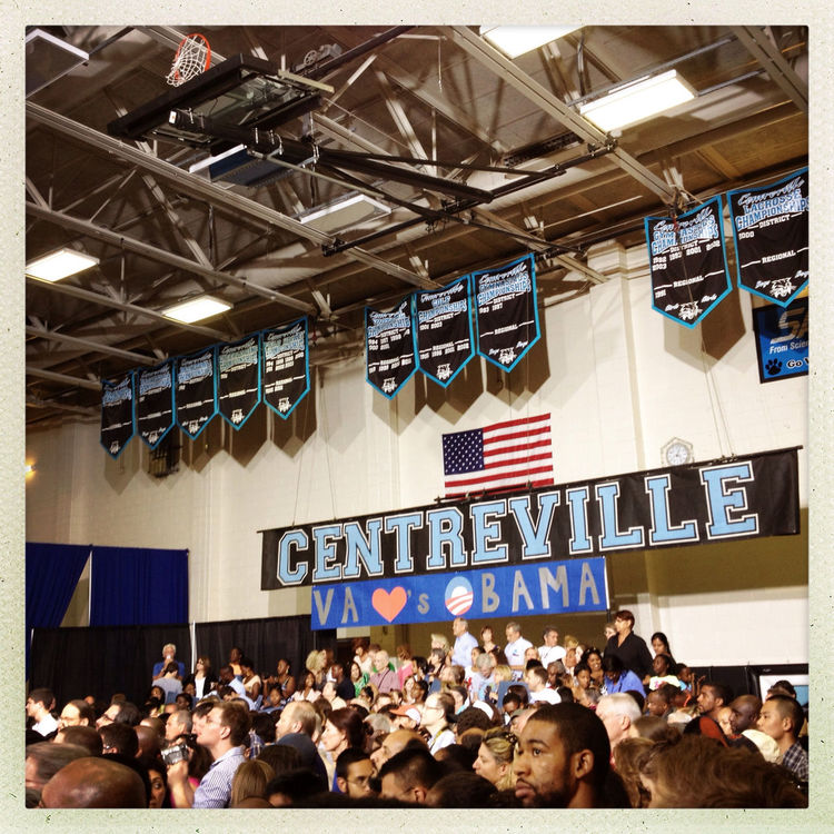 U.S. Presidential Campaign 2012 at Centreville High School by Frederick Espy