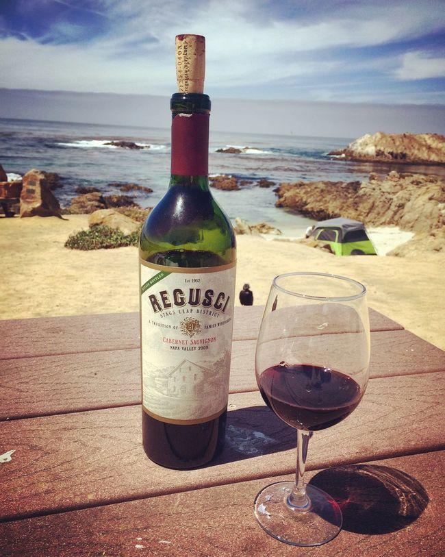 A Glass of Cabernetsauvignon Regusci Winery 17miledrive Roadtrip California Pacific Ocean Liquid Lunch Highway 1
