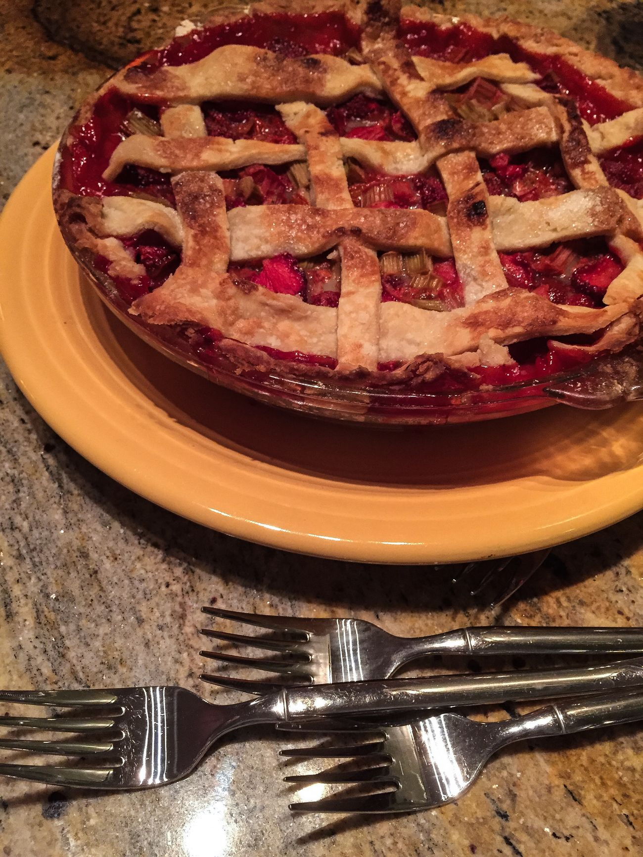 Pie Strawberry Rhubarb Homemade Puremichigan Dessert Nom Nom Nom Inmymouf