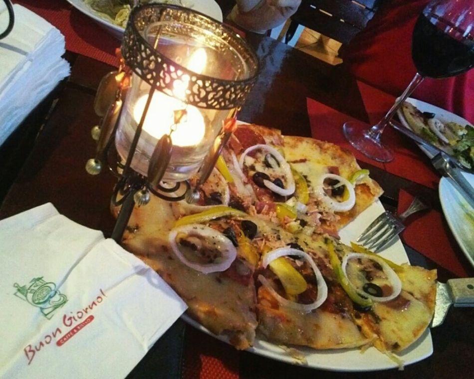 Cheers. NY Pizza Dine In Tagaytay Cliff House Inn Eyeem Philippines Yum Food Porn