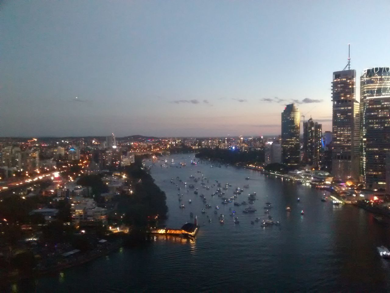 Brisbane River City City Life High Angle View Modern Outdoors Tall - High Tourism Tranquility Travel Destinations Water