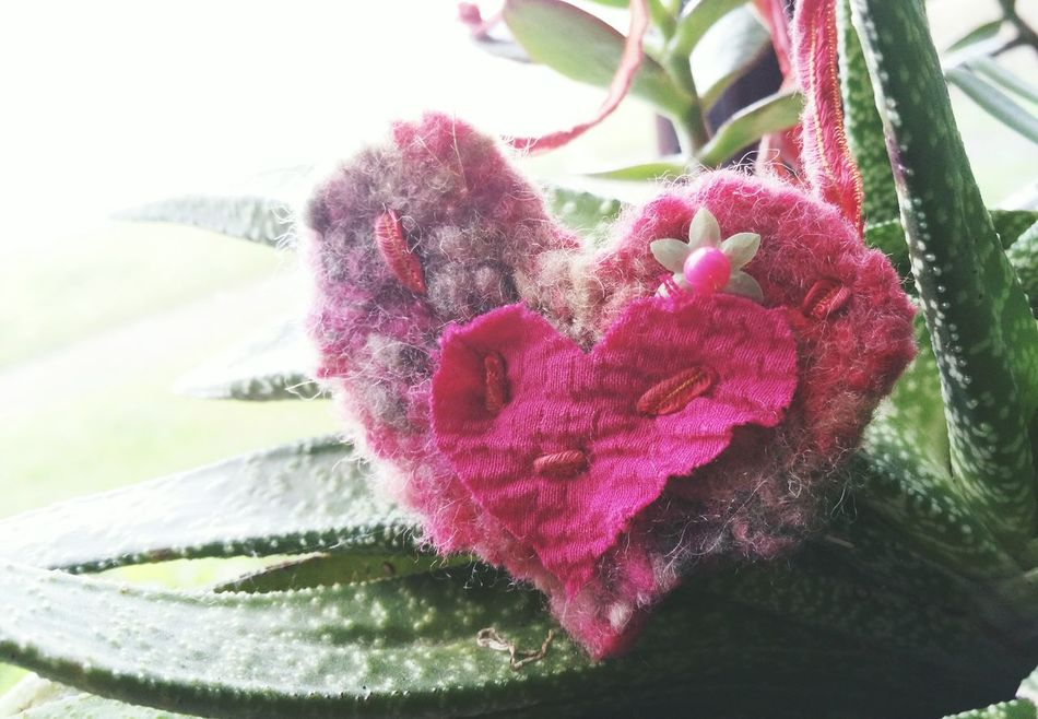 ... a Pink Textile Jewelry Heart now in my Linandara Etsy shop ... Plant Close-up Pink Color Leaf No People Crafts Textiles Handmade Wool Felt Aloe Necklace One Of A Kind  Hand Made Jewelry Hand Made Etsy Arts And Crafts Love Valentine For Sale Pink Hearts Lieblingsteil