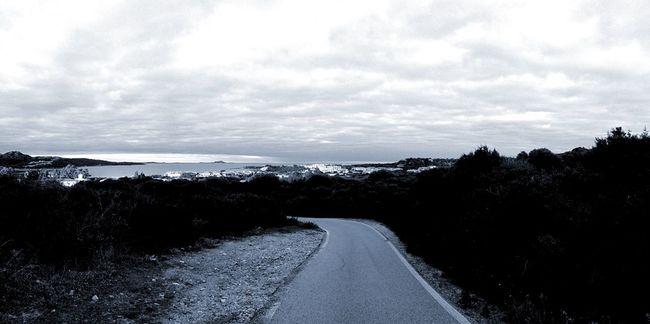 Open Edit Landscape Cloudy Skies Road Sardinia Sardegna Italy  Golfoaranci