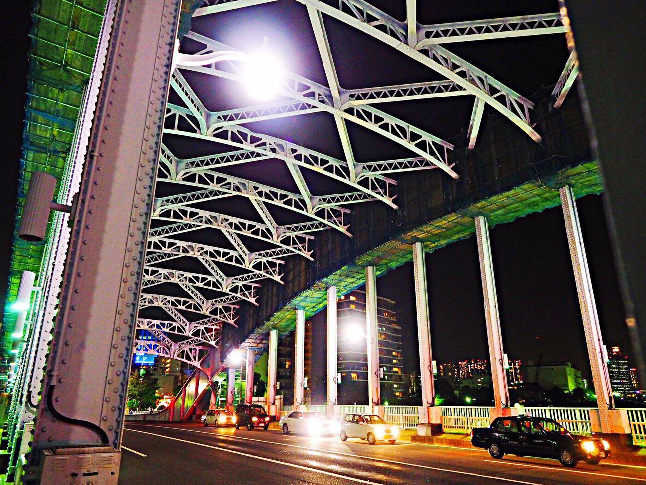 永代橋、年内工事中…😥ライトアップ早く見てみたい💦 Bridge Bridge View Architecture Night From My Point Of View EyeEm Best Edits Illuminated Relax Relaxing Time Tokyo Japan