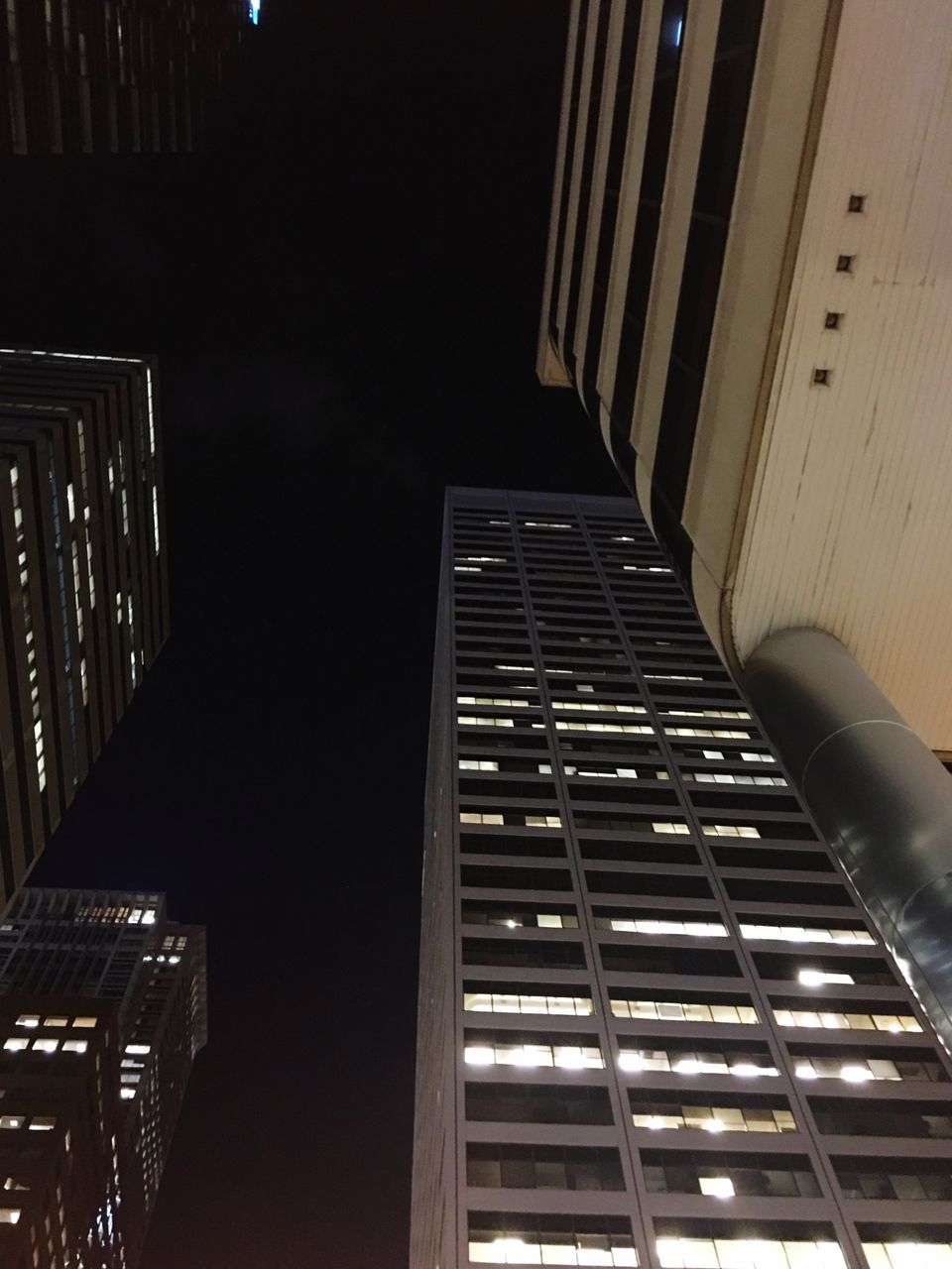 architecture, built structure, no people, illuminated, low angle view, building exterior, modern, night, outdoors, city