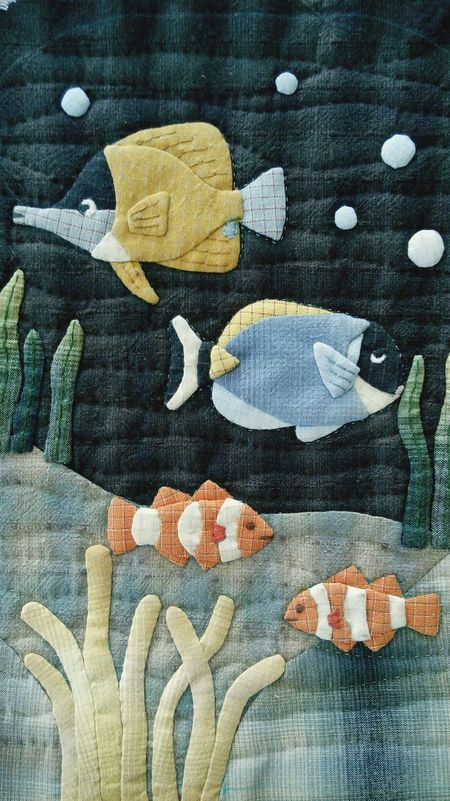 Fabric Handmade Quilt Applique Marinefish