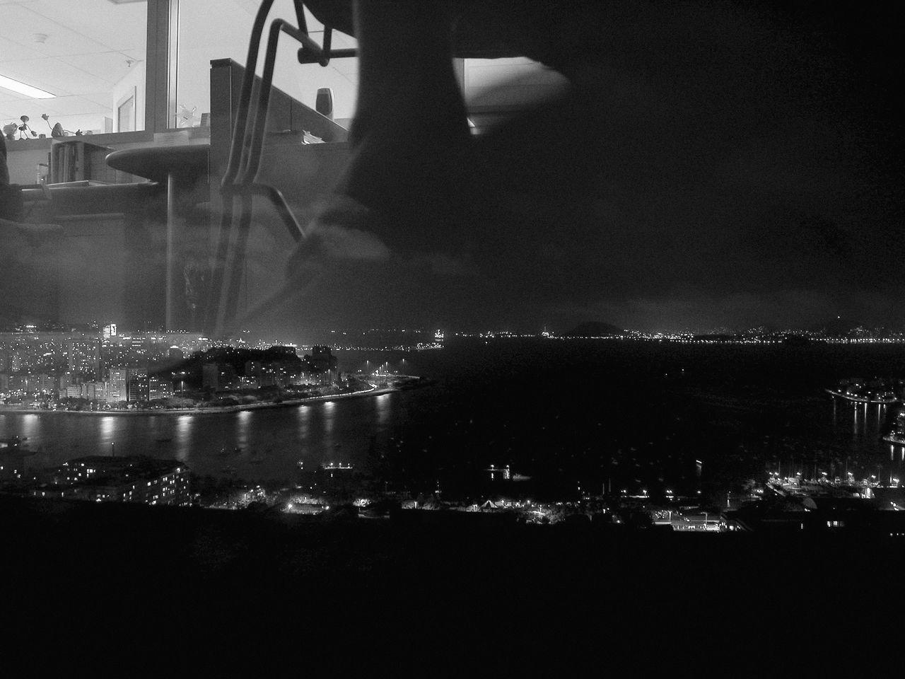 Architecture Baía De Guanabara Blackandwhite Photography City City Life Cityscape Dark Illuminated Modern Night No People Rio De Janeiro Rio De Janeiro Eyeem Fotos Collection⛵ Sky Late-night Work Office View Through The Window Cities At Night