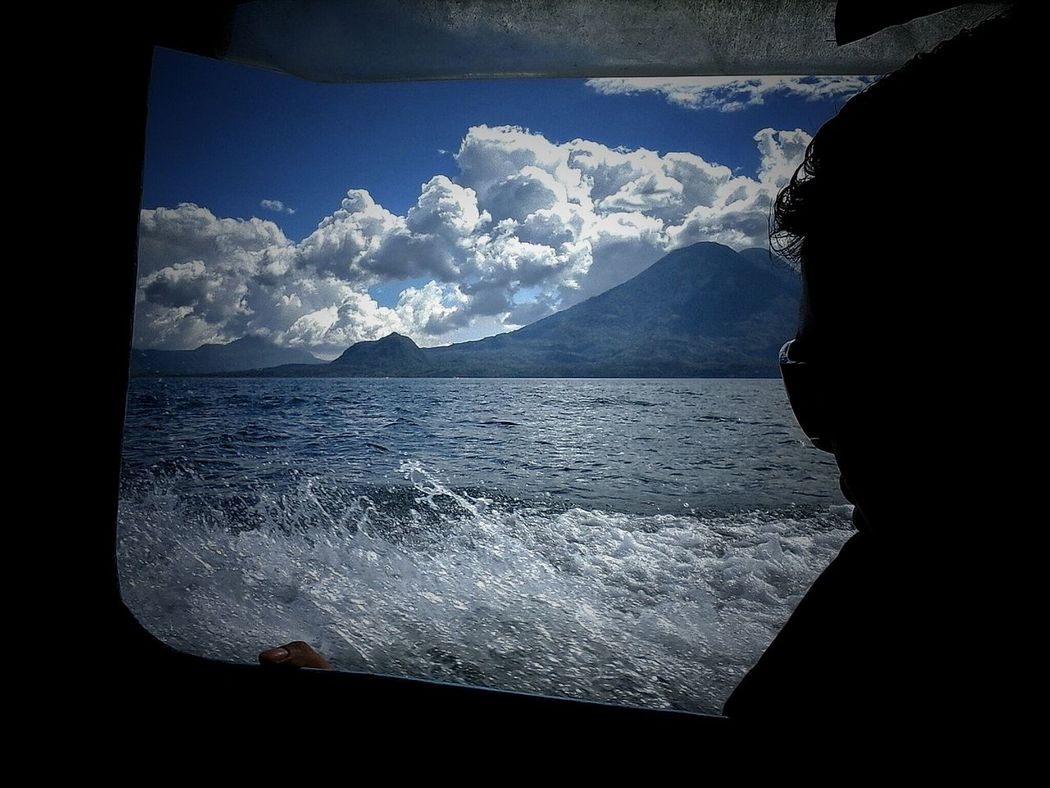 Lago Atitlán Atitlan Lake Guatemala Miles Away Guatebella Guatemala's Sky Volcano Volcano Lake Volcanoeslover Sky And Clouds Sky_collection Sky Porn Through The Window Silouette & Sky Silhoutte Photography Silhouettes Of People Faceless Water_collection Enjoy The View Peaceful View Peaceful Moment Window View Through My Window