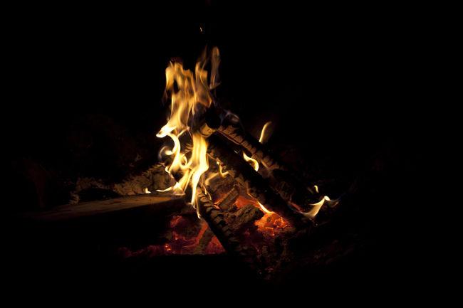 Bonfire Black Background Bonfire Bonfire Bonfire Night Burning Close-up Dark Fire Fire - Natural Phenomenon Firewood Flame Glowing Heat Heat - Temperature Illuminated Lit Night No People Outdoors