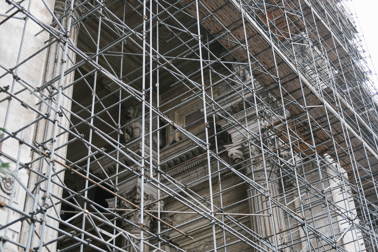 Architecture Building Exterior Built Structure Construction Site Day Low Angle View No People Outdoors Scaffolding Sky