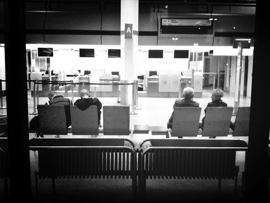 Waiting at Berlin Tegel Airport (TXL) by Pettit