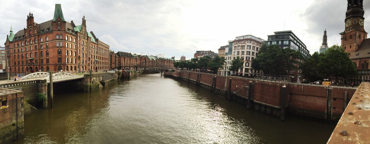 Hamburg Hamburg Altona Water Panorama Building Exterior Built Structure Architecture City Canal River Connection Waterfront Bridge - Man Made Structure Sky Rippled Travel Destinations Day City Life Old Town Outdoors Bridge Residential District No People