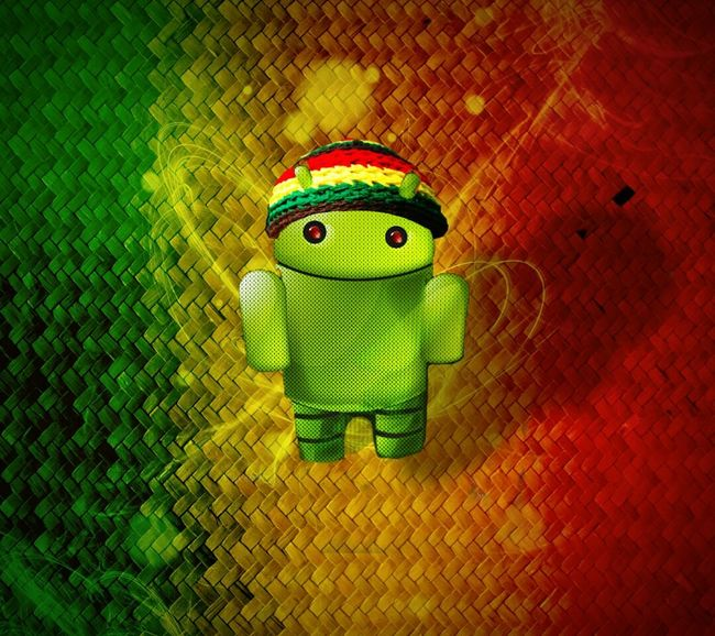 Android Bobmarley RASTA Redeyes Wallpaper Graphic Design