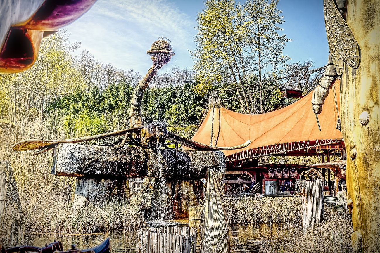 Amusementpark Architecture Hdrphotography Low Angle View Nature No People Outdoors Phantasialand Pretty Sky Tree