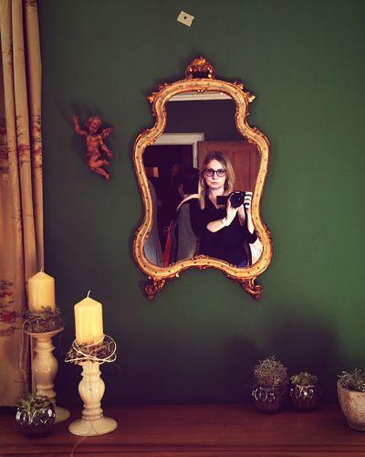 Indoors  Self Portrait Green Room Green Color Desk Curtain Mirror Castle Indoors