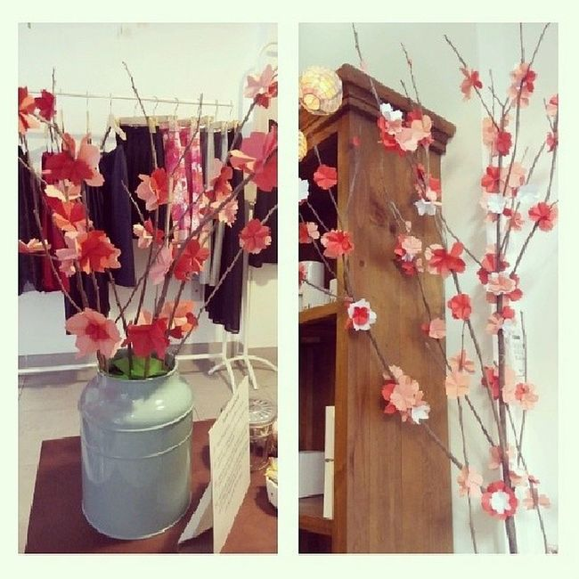 Aren't they just lovely? Handmade Cherryblossom Peoniesboutique Origami papercraft
