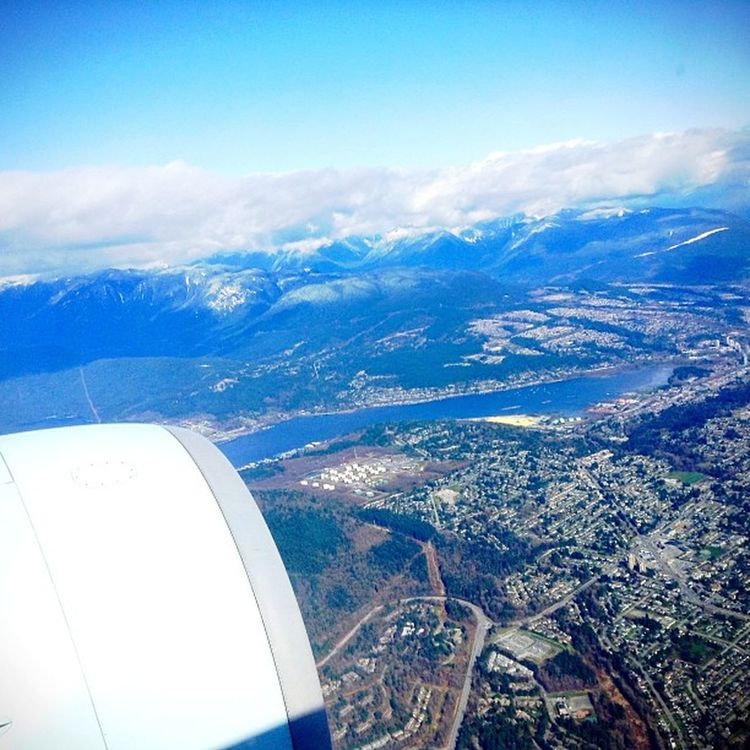 A view of Vancouver from above. Throwback // Edited with @KitCamApp KitCam Blowout Color_vibe