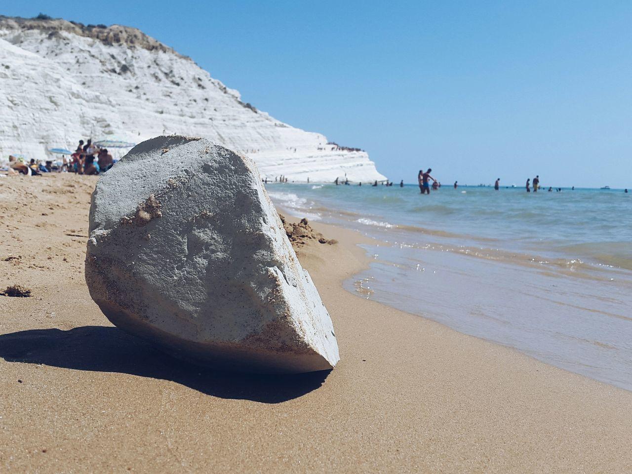 The stone at the shore Summer Sicilia