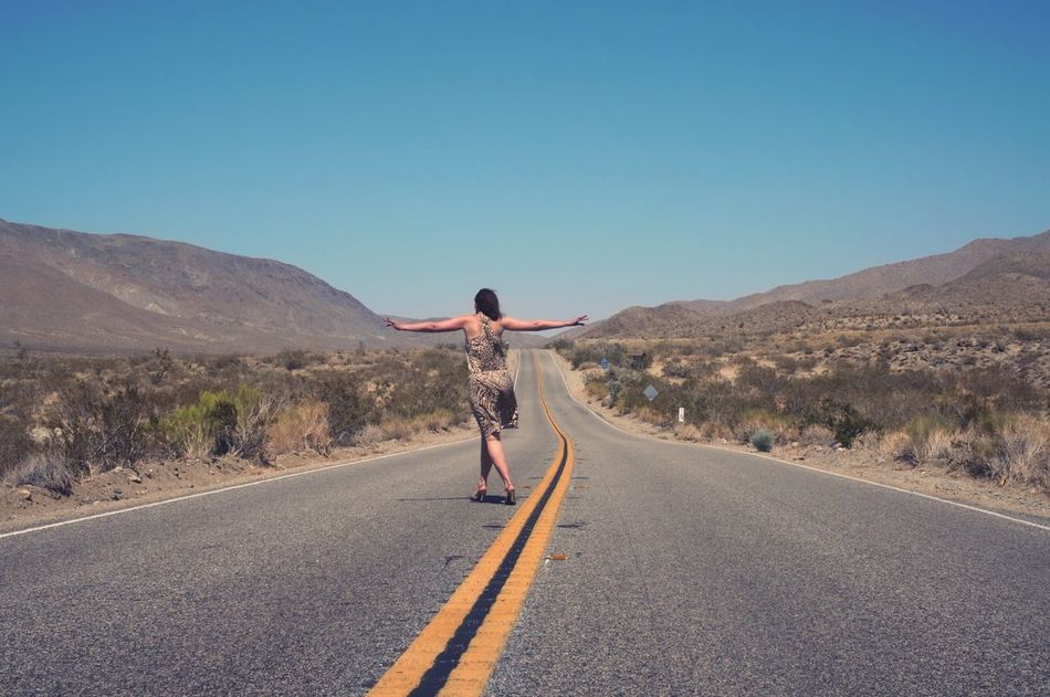 Beautiful stock photos of freedom, Arms Outstretched, Carefree, Copy Space, Country Road