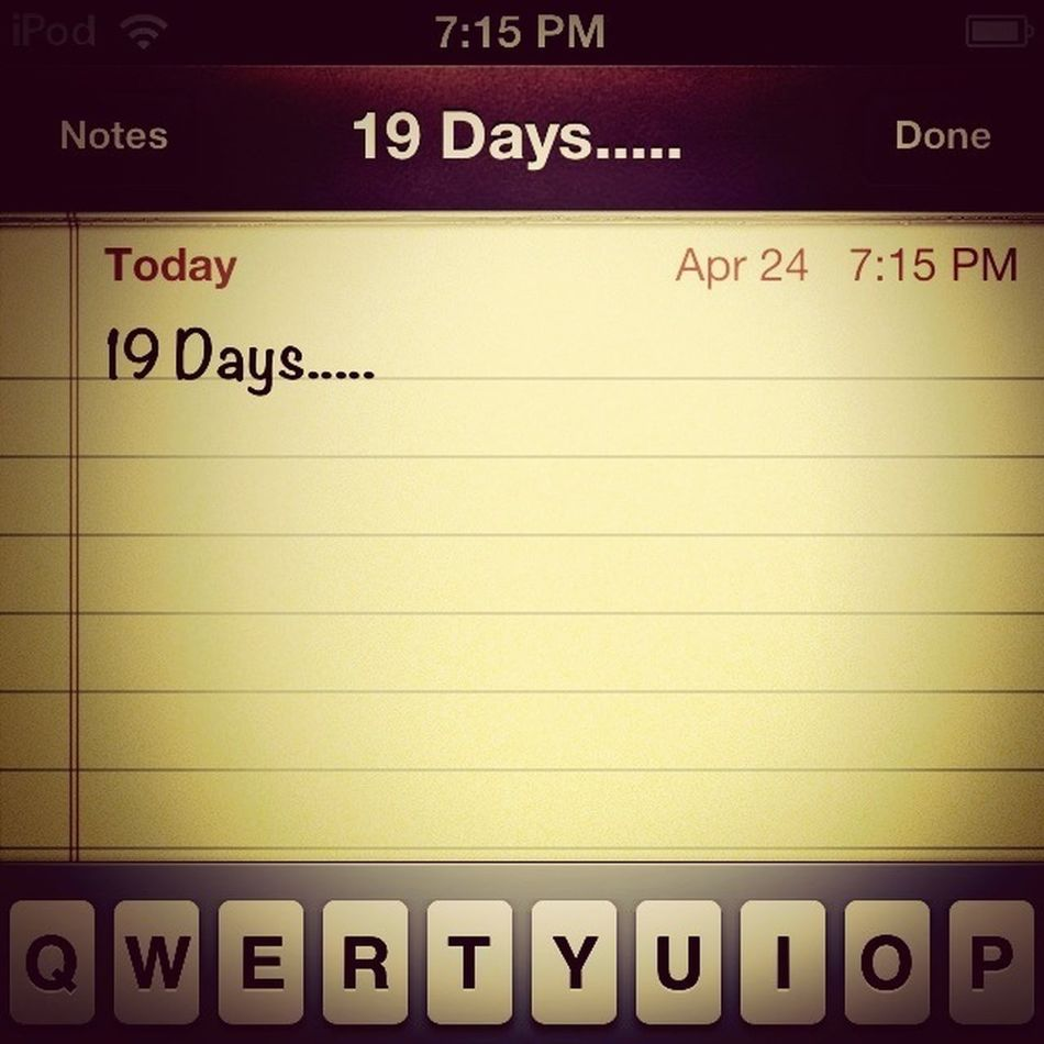 Counting Down The Days Until Daddy Comes Back From Afghanistan!!!!!