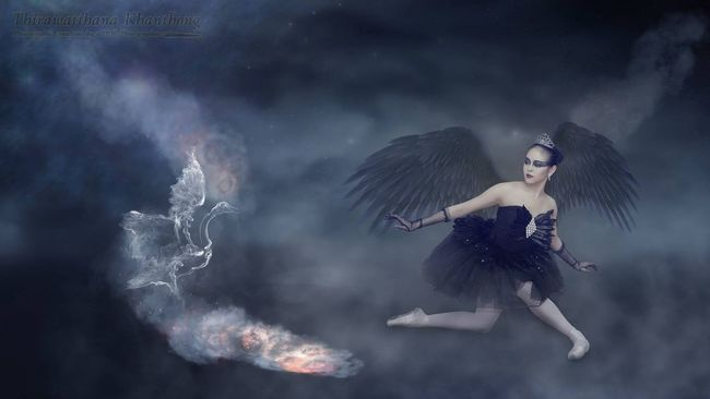 The Swans DrNui Photographic Creations Ballett Swan Photo Manipulation Fantasy Bang Yai Thailand