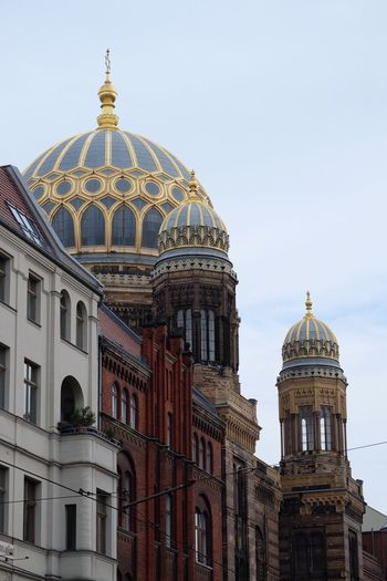 EyeEm Selects Dome Architecture Religion Building Exterior Place Of Worship Built Structure Spirituality Travel Destinations Day Clear Sky No People Outdoors Sky Berlin Berliner Ansichten Jewish Your Ticket To Europe Berlin Love