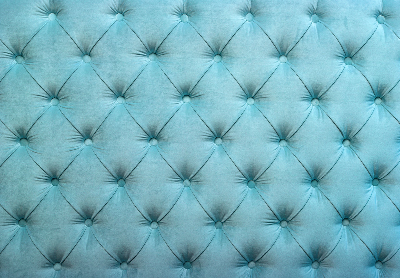 Pastel blue luxury capitone Chesterfield style tufted buttoned fabric textile pattern background Antique Backgrounds Bed Blue Capitone Chesterfield Close-up Decor Decoration Design Fabric Furniture Home Interior Luxury Pastel Pastel Blue Pattern Premium Retro Retro Styled Rich Textile Textile Industry Textured  Wall