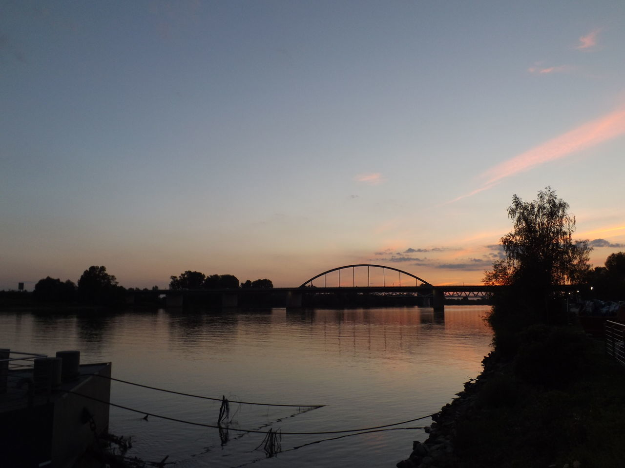 River River View No People Sunset Evening Sky Summer Nature Bridge Water Outdoors Water_collection Donau Beauty In Nature