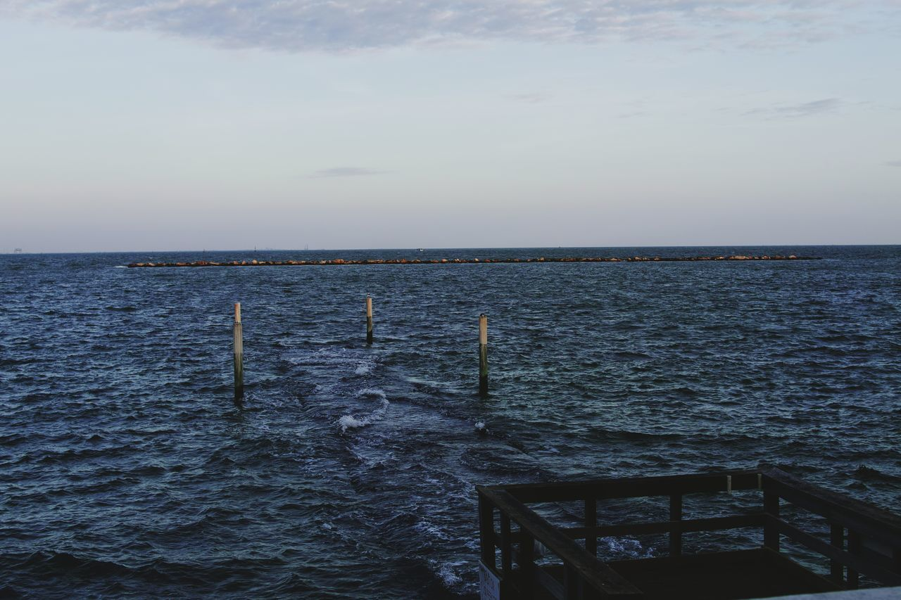 Nature Day Outdoors Sky Sea Scenics Beauty In Nature Water No People Pondering The Meaning Of Life Abstract Photography Outside Photography EyeEmNewHere Outdoor Pictures Sea_collection Seascape Photography Sea And Sky Wharf Wharfside Bayfront Seawall