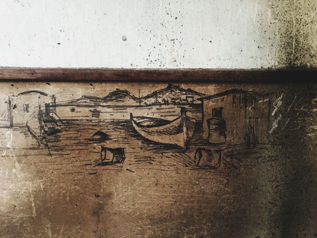 Good Morning Sketch Charcoal Drawing Wood Gulf Coast Naples Italy Resilienza David De La Cruz