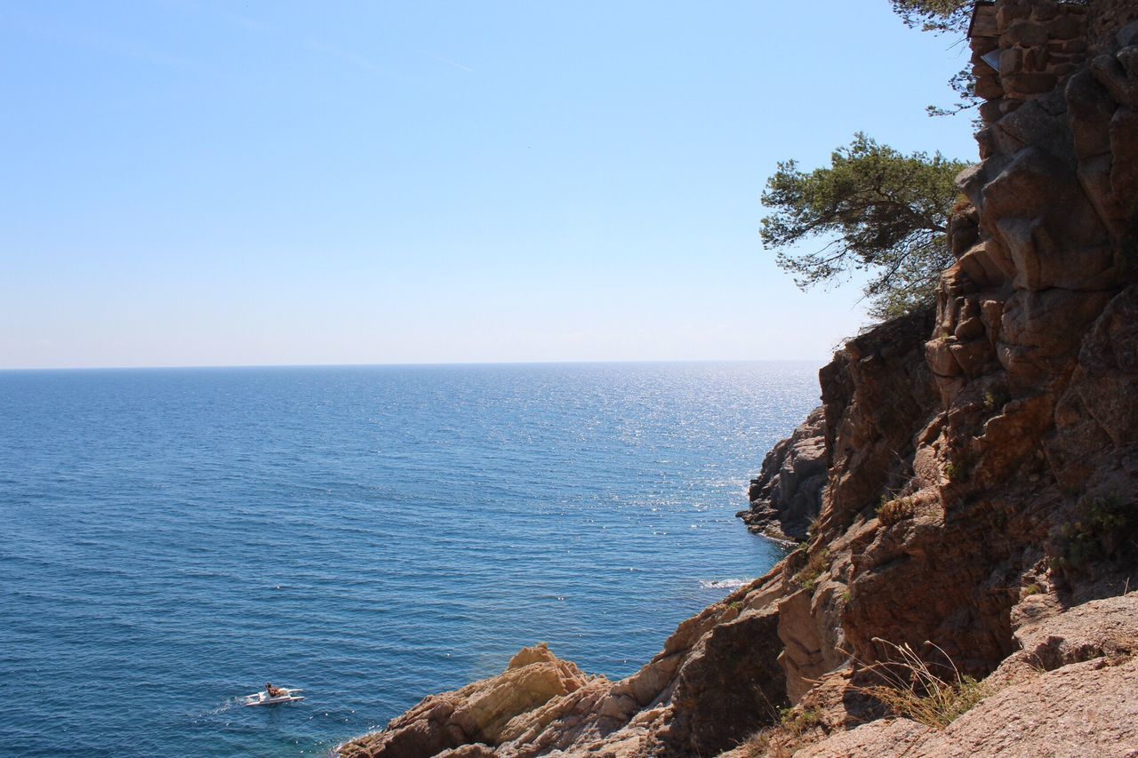 My Favorite Place Sea Water Horizon Over Water Scenics Tranquil Scene Beauty In Nature Rock - Object Tranquility Blue Cliff Non-urban Scene Idyllic Nature Clear Sky Seascape Tossa De Mar Costa Brava Gironamenamora Girona SPAIN Rocky Mountains Rock Formation Tourism Remote