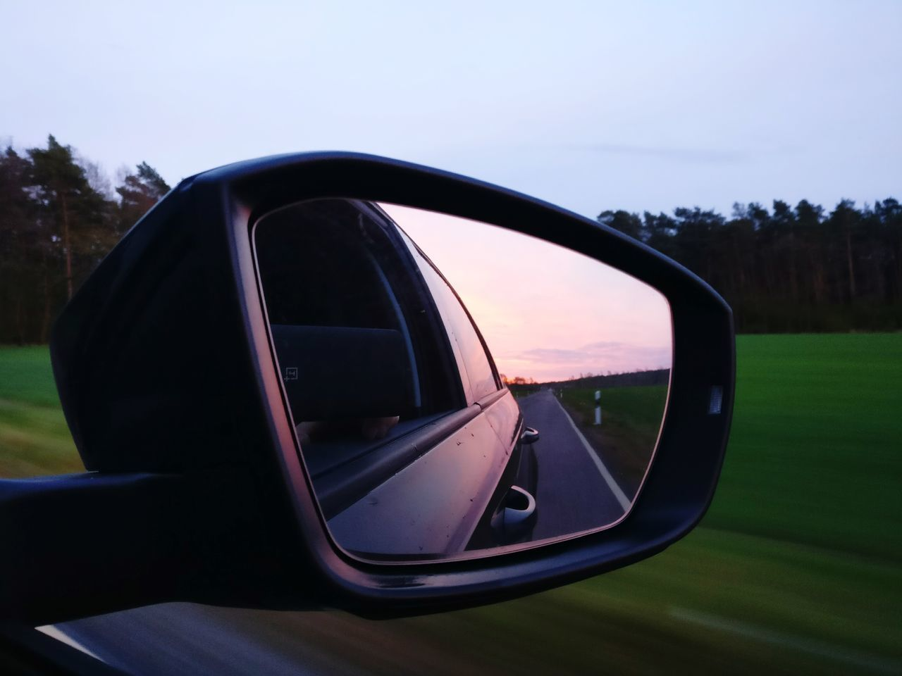 Mirror Car No People Landscape Sunset Outdoors Close-up Day Water Nature Sky