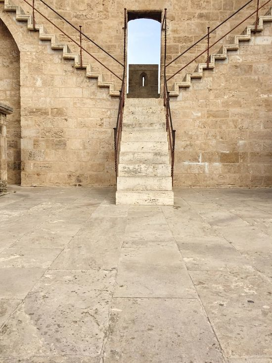 Architecture Built Structure Staircase Steps Steps And Staircases No People Day Building Exterior Outdoors SPAIN Valencia, Spain Torres De Serranos