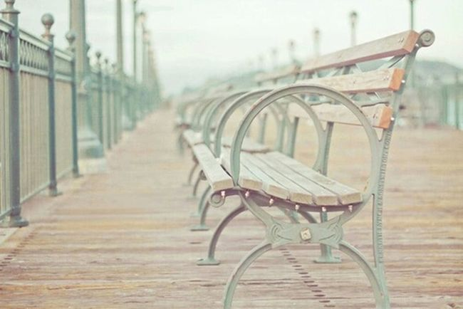 Vintage ławka ♥ Molo