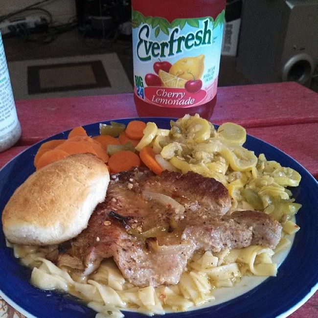Home cooked meal and my favorite drink Thanxmom Fatkidlife