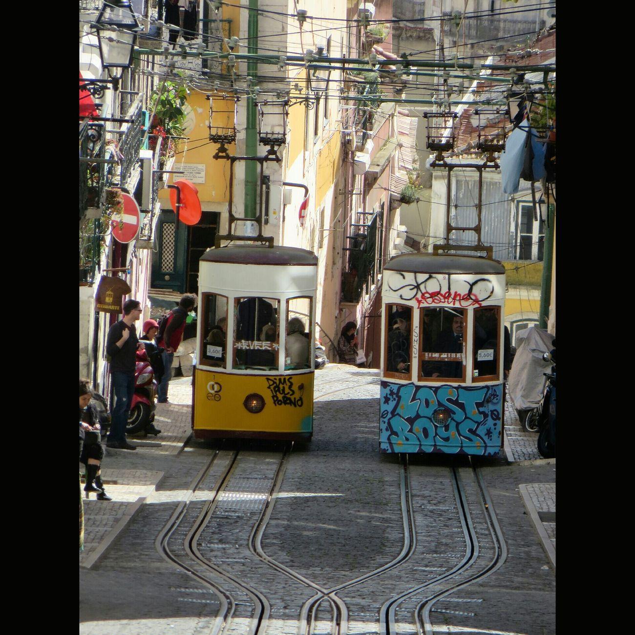 1... 2... 3... gooo... corrida de elevadores... quem va ganhar... Lisboa Lisbon P3top Publicop3 Lisboa Portugal E28 Elétrico Tram Portraits Vscodaily Emotion_daily