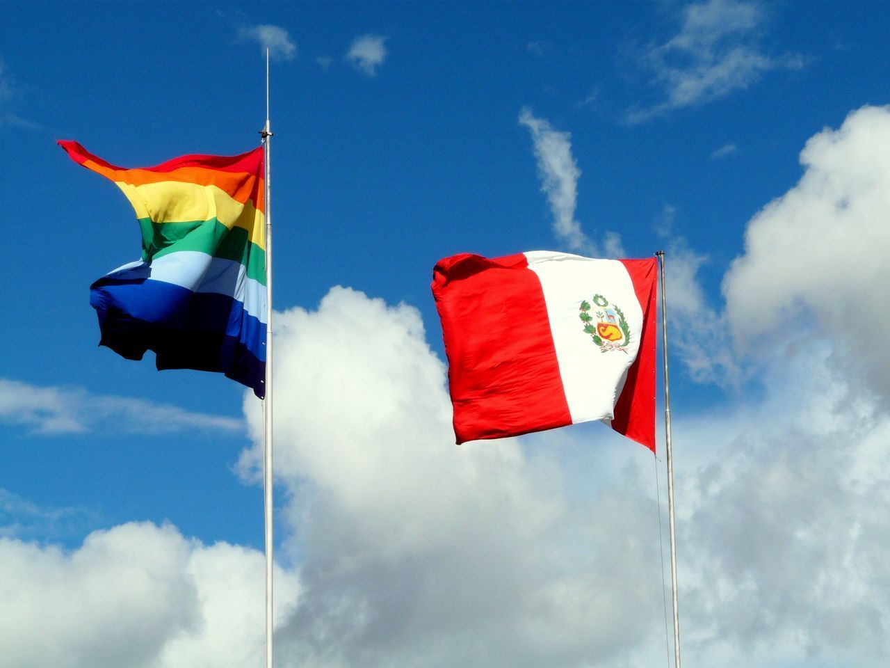 Beautiful stock photos of gay, Cloud, Day, Flag, Fluttering