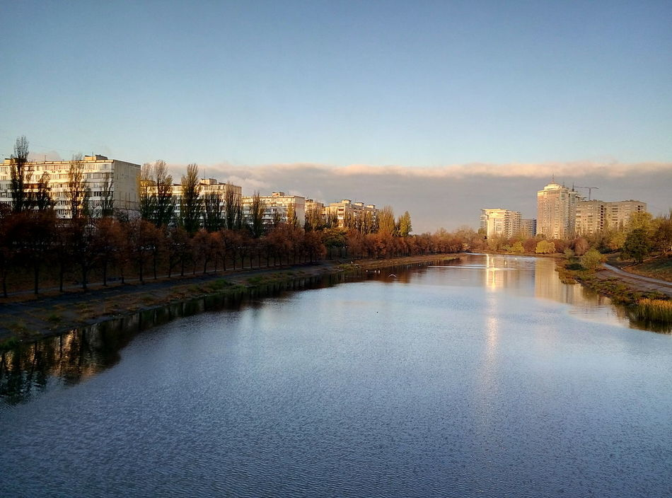 Reflection Sky Sunlight River No People Channels Channel Rusanovka Kyiv Cloud Cityscapes