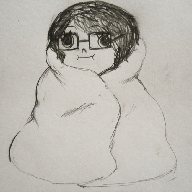 Blanket burrito me Quicksketches Drawing