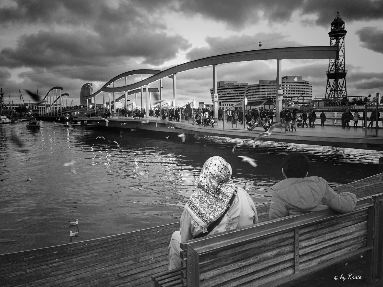 Tourist Architecture Built Structure Water Tourism City Nautical Vessel Outdoors Bridge - Man Made Structure Building Exterior City Life EyeEm Best Edits EyeEm Best Shots City Street Capture The Moment Eye4photography  Bw Photography BW Collection