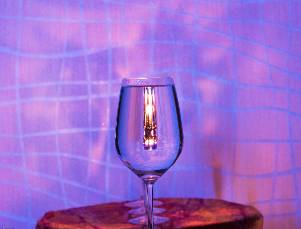 Illuminated No People Indoors  Candle Waterglass Mirrored Blacklight Candle Light EyeEmNewHere