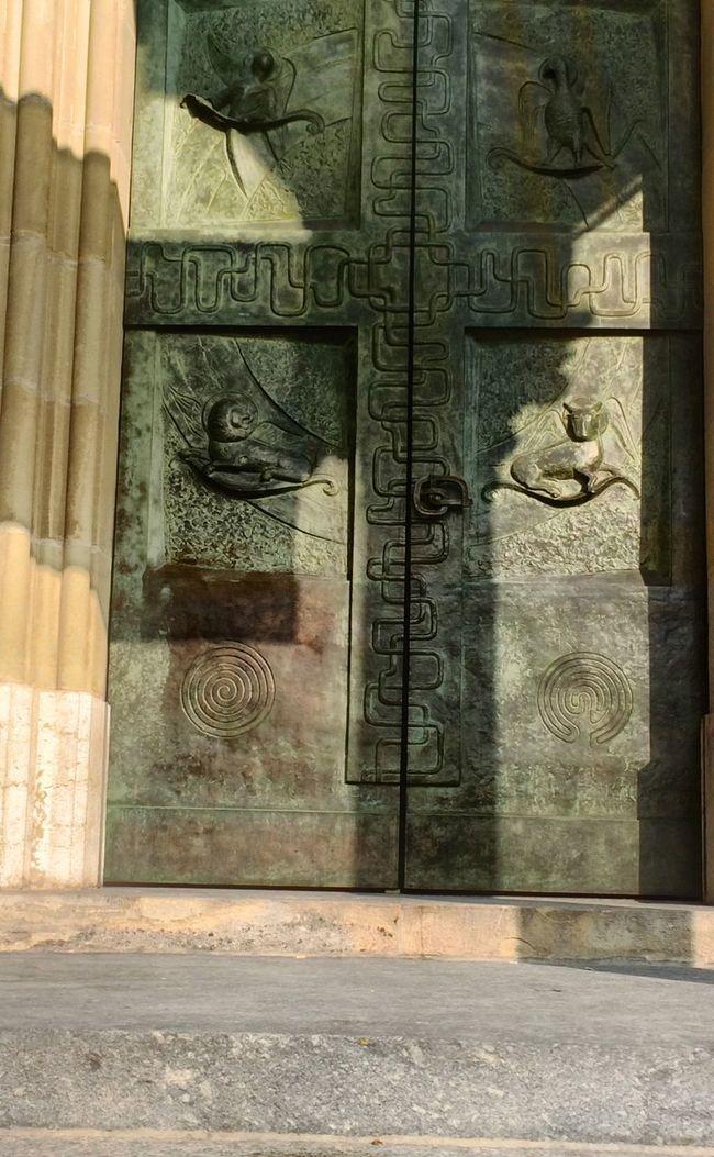 Door Doorwaytoheaven Churchdoor Light And Shadow Biblical... Symbol Of Belief Symbolic  Church Copper  Entrance Entre Ombre Et Lumiere Labyrinth Minotauro Minotaur
