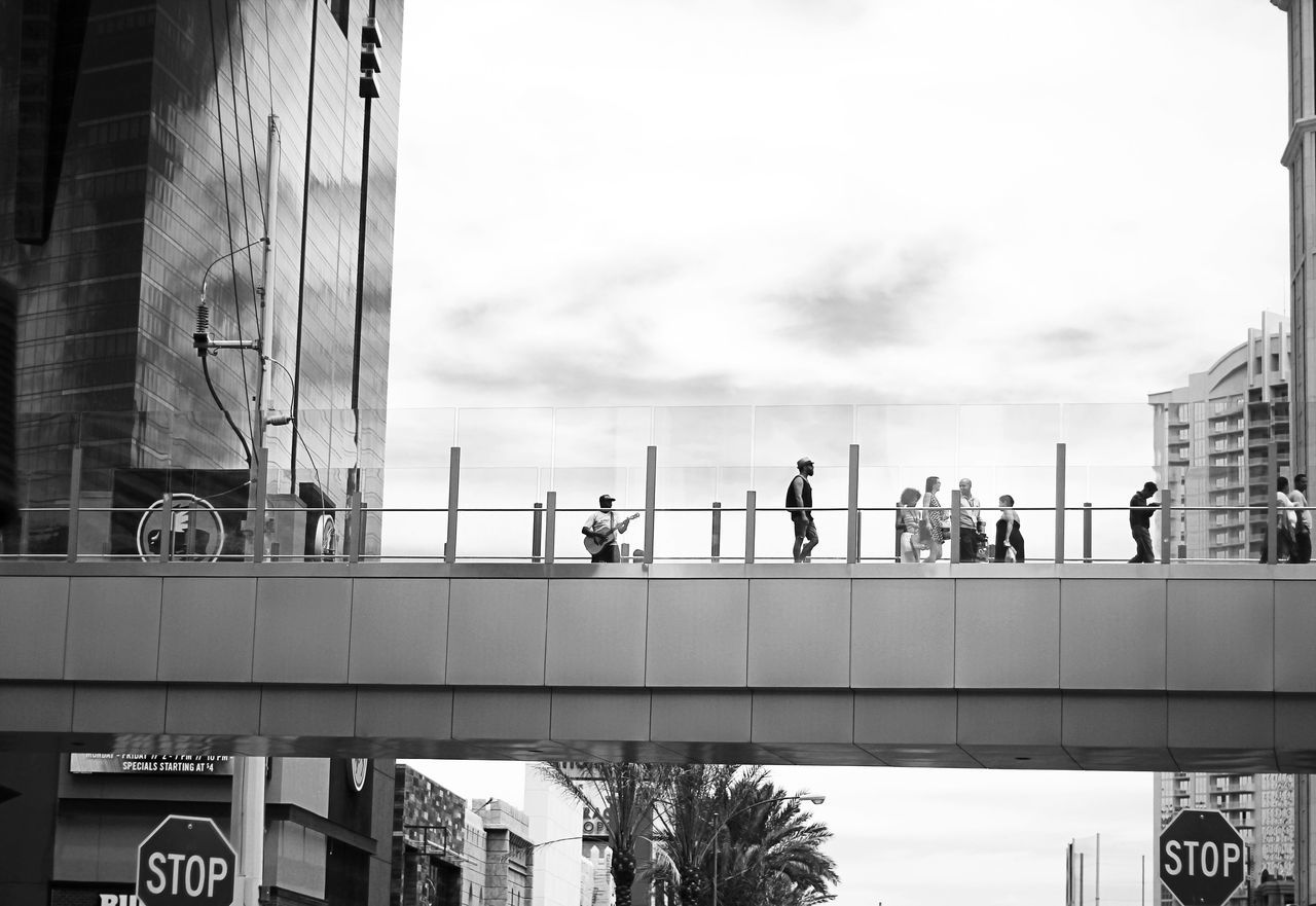 Vegas Adult Adults Only Architecture Blackandwhite Building Exterior Built Structure Construction Worker Day Las Vegas Life Lifestyles Low Angle View Manual Worker Men Monochrome Occupation Only Men Outdoors People Real People Sky Walk Window Washer