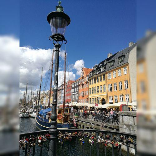 Architecture Gondola - Traditional Boat Sky Outdoors Building Exterior Copenhagen Copenhagen, Denmark Nyhavn Nyhavnport First Eyeem Photo