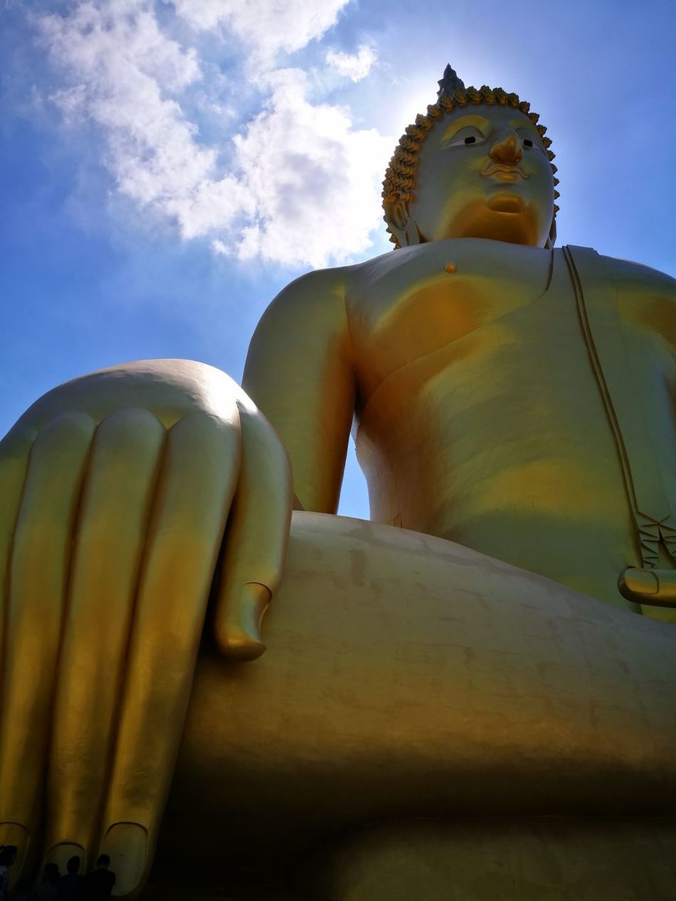 Cloud - Sky Sky Low Angle View Summer Religion No People Day Statue Outdoors Beauty In Nature Budhist Budha Temple Buddhist Monks Buddist Temple Buddhism