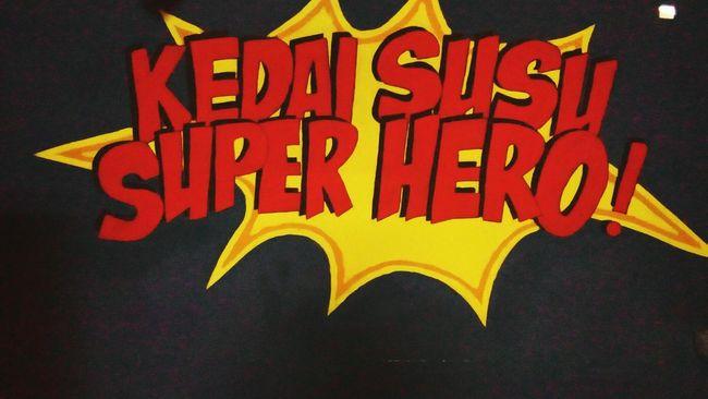 SuperHero everywhere Milk Cafe Girlsdayout Jakarta JakartaStreet INDONESIA Indonesiakeren
