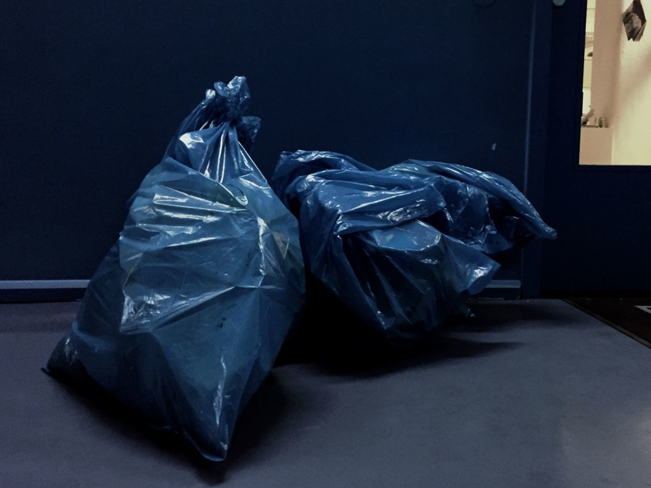 Trash Art Textile Crumpled Full Length No People Indoors  Close-up Day Trash Blue